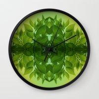 leaf Wall Clocks featuring Leaf by Cs025