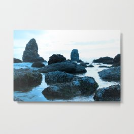 Scattered Blue Rocks  Metal Print