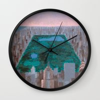 central park Wall Clocks featuring central park by cityclectic design