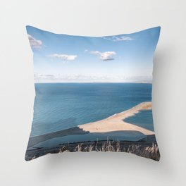 Land tongue Throw Pillow