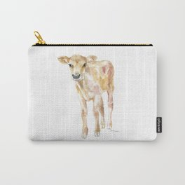 Jersey Calf Watercolor Cow Carry-All Pouch