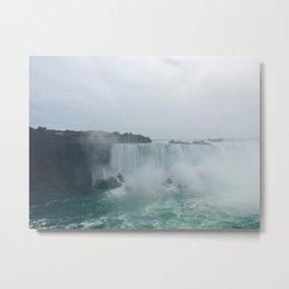 Foggy Waterfall Metal Print