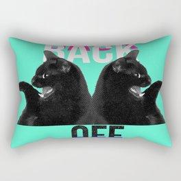 Back Off Rectangular Pillow
