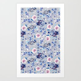 Crystalised Rose in Lilac Haze Art Print