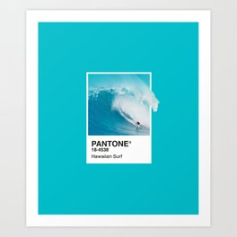 Pantone Series – Hawaiian Surf Art Print
