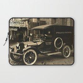 Vintage Police Car Laptop Sleeve