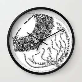 Anatomy Series: Eyeball Floweres Wall Clock