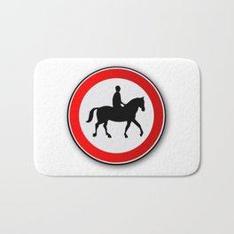 Horse and Rider Road Traffic Sign Bath Mat