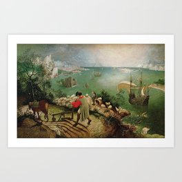 Landscape With The Fall Of Icarus - Pieter Bruegel the Elder Art Print