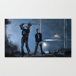 Tyler Durden and the Narrator - Golfing Buddies - Fight Canvas Print