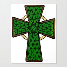 Shamrock Celtic Cross Canvas Print