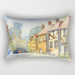 English Village in Color Rectangular Pillow