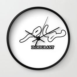 Immigrant (Arabic) Wall Clock