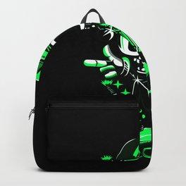 Skateboard Figure With Basecap Gift Motif Design Backpack