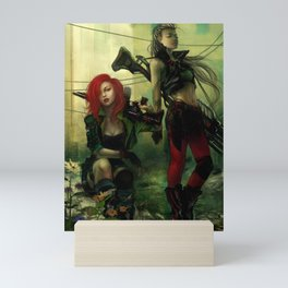Hot pepper - Sci-fi soldier girls with weapons Mini Art Print