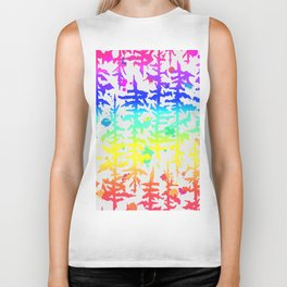 Rainbow Trees Biker Tank