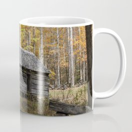Smoky Mountain Rural Rustic Cabin Autumn View Coffee Mug