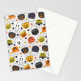 Halloween Candy Buckets Stationery Cards