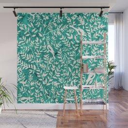 Wonderlust Τurquoise#Birds let's run away Wall Mural