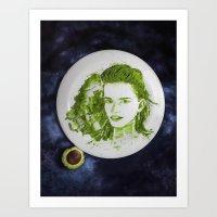 emma watson Art Prints featuring Emma Watson by Creadoorm