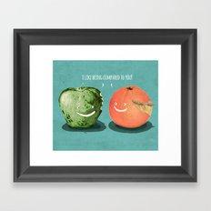 Apples to Oranges Framed Art Print