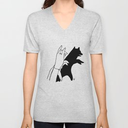 Bear shadow Unisex V-Neck