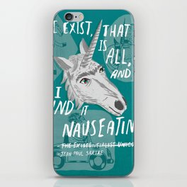 The Existentialist Unicorn iPhone Skin