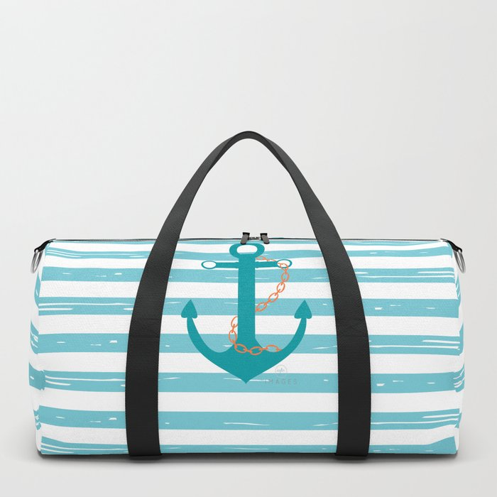AFE Nautical Teal Ship Anchor Duffle Bag