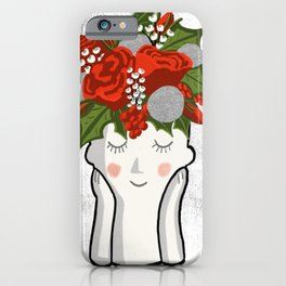 Holidays in my hair - don't care iPhone Case