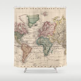 Old World Map Shower Curtains