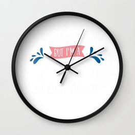 I Am Not Superwoman But I'm A Mom Wall Clock