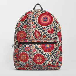 Kermina Suzani Uzbekistan Embroidery Print Backpack