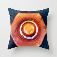 dot Throw Pillows featuring dot by Cansu Girgin