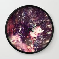 lightning Wall Clocks featuring lightning by christine nissen