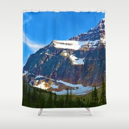 Mt. Edith Cavell in Jasper National Park, Canada Shower Curtain