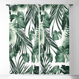Tropical Jungle Leaves Dream #7 #tropical #decor #art #society6 Blackout Curtain