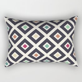 Modern Trendy Geometric Patter in Fresh Vintage Coffee Style Colors Rectangular Pillow