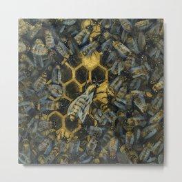 The Golden Hive Metal Print