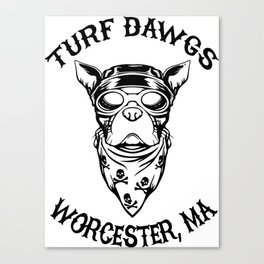 Worcester Turf Dawgs Canvas Print