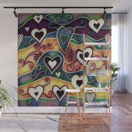 Funky Hearts Wall Mural
