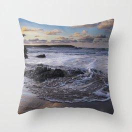 Trevone Bay, Cornwall, England, United Kingdom Throw Pillow