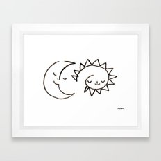 moom and snuh Framed Art Print