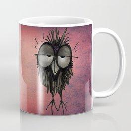 Funny Sleepy Owl on Pink Coffee Mug