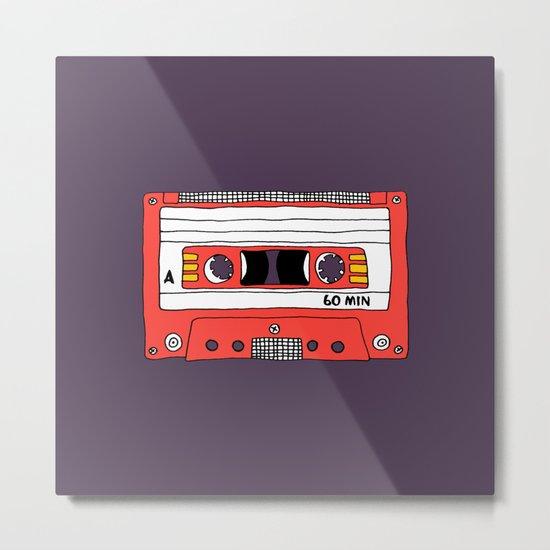 Vintage Mix Tape // Purple and Pink Metal Print
