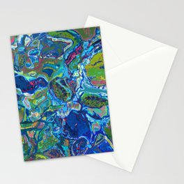 Crystalline Structure in Blue Stationery Cards