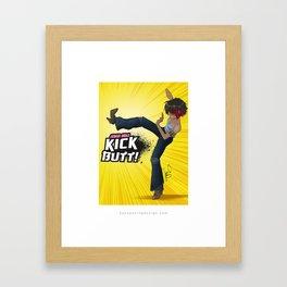 Anime Girls Kick Butt! Framed Art Print