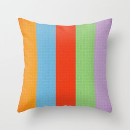 VINTAGE RETRO PATTERN VERTICAL BARS Throw Pillow