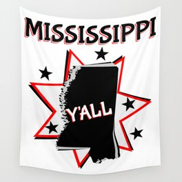 Mississippi State Pride Y'all Wall Tapestry