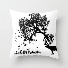 Elk-Naturalle Throw Pillow