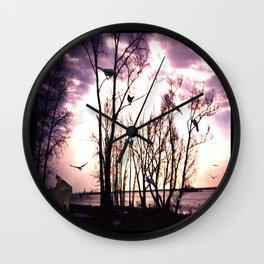 Nightly water side Wall Clock